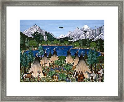 Framed Print featuring the painting Nez Perce Wallowa Lake by Jennifer Lake