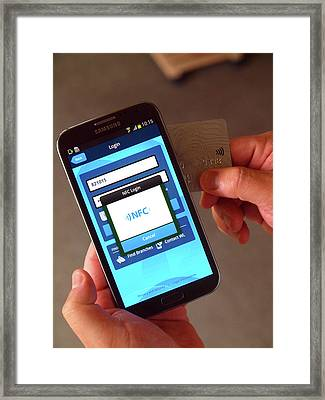 Nfc Mobile Security Framed Print