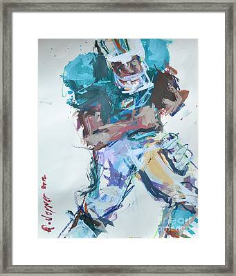 Nfl Football Painting Framed Print