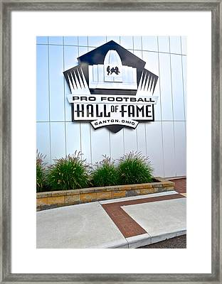 Nfl Hall Of Fame Framed Print by Frozen in Time Fine Art Photography