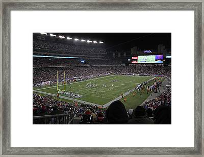 Nfl Patriots And Tom Brady Showtime Framed Print by Juergen Roth