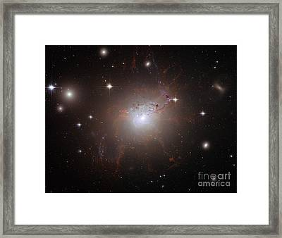 Ngc 1275, Elliptical Galaxy Framed Print by Science Source