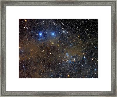 Ngc 1342 Open Cluster In Perseus Framed Print by Roberto Colombari