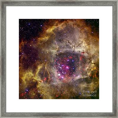 Ngc 2237 Caldwell 49 Rosette Nebula Framed Print by Science Source