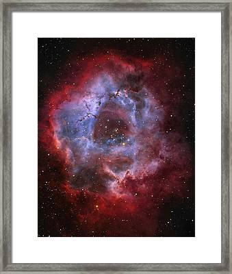 Ngc 2237, The Rosette Nebula Framed Print by Lorand Fenyes