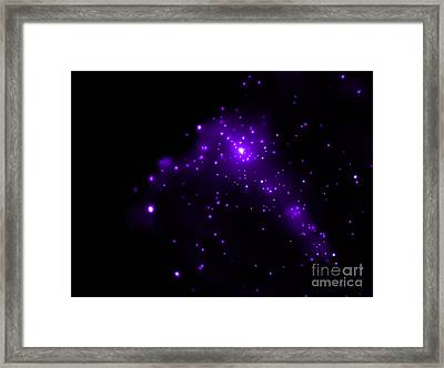 Ngc 281, Pacman Nebula, X-ray Framed Print by Science Source