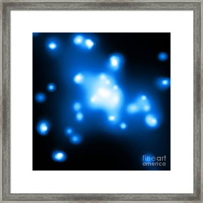 Ngc 3115-black Hole Framed Print by Science Source