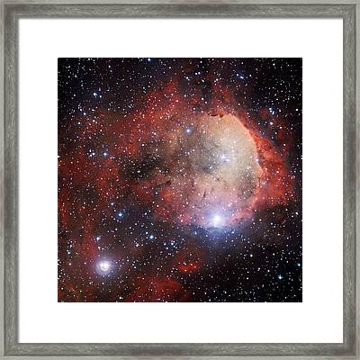 Ngc 3324 Star Cluster Framed Print by European Southern Observatory