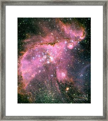Ngc 346 Star Cluster In Smc Framed Print