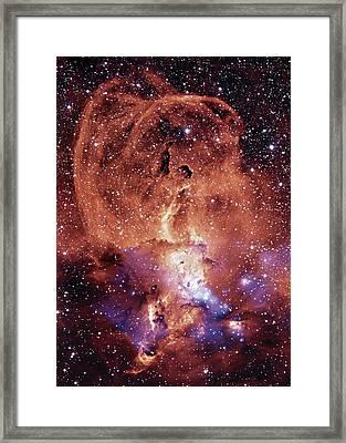 Ngc 3576 Nebula Framed Print by Nasa