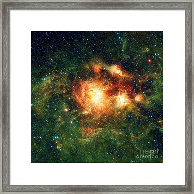 Ngc 3603, Open Cluster Of Stars Framed Print by Science Source