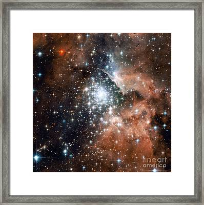 Ngc 3603, Star Cluster Framed Print by Science Source
