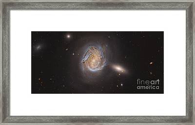 Ngc 4911, A Spiral Galaxy Located Framed Print by Roberto Colombari