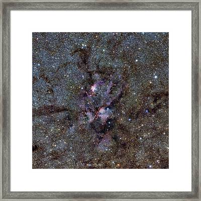 Ngc 6357 Nebula Framed Print by Eso/vvv Survey/d. Minniti. Acknowledgement: Ignacio Toledo