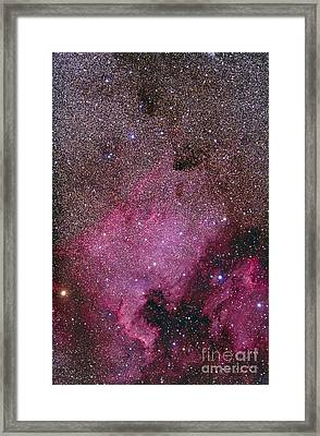 Ngc 7000 And The Pelican Nebula Framed Print by Alan Dyer