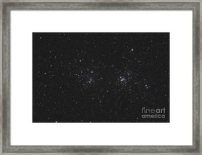 Ngc 884 And Ngc 869, The Double Cluster Framed Print by Reinhold Wittich