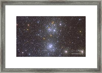 Ngc 884 And Ngc 869, The Double Cluster Framed Print