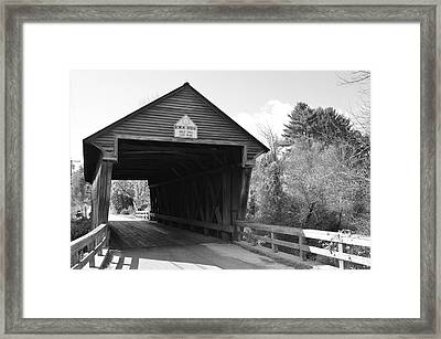 Nh Covered Bridge Framed Print