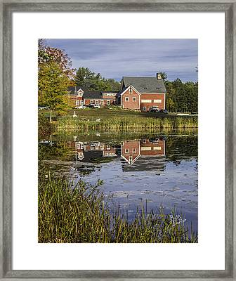 Framed Print featuring the photograph Nh Farm Reflection by Betty Denise