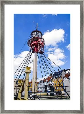 Lightship Xvii - Nhavn - Copenhagen Denmark Framed Print by Jon Berghoff