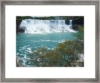 Niagara - American Falls In Spring Framed Print by Phil Banks