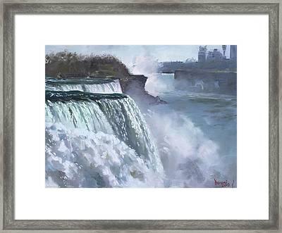 Niagara American Falls Framed Print by Ylli Haruni