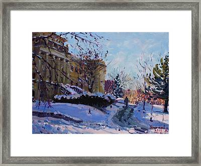Niagara Arts And Cultural Center Framed Print by Ylli Haruni