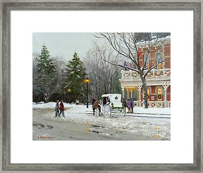 Niagara Carriage By The Prince Of Wales Framed Print
