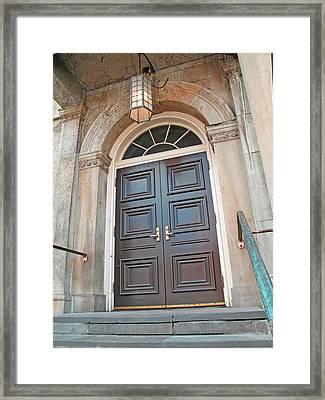 Niagara Court House Doors Framed Print by Barbara McDevitt
