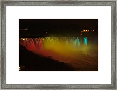 Framed Print featuring the photograph Niagara Falls A Glow by Dave Files