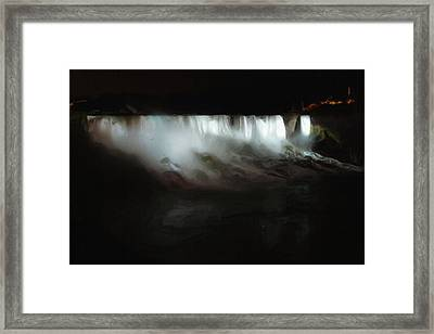 Niagara Falls By Night Framed Print