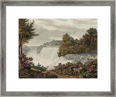 Niagara Falls Circa 1829 Framed Print by Aged Pixel