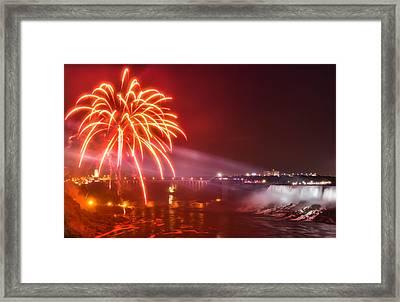 Niagara Falls Fireworks Framed Print by James Wheeler