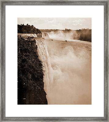 Niagara Falls From Prospect Point, Jackson, William Henry Framed Print by Litz Collection