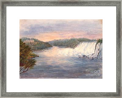 Niagara Falls From Table Rock 1846 Framed Print by Padre Art