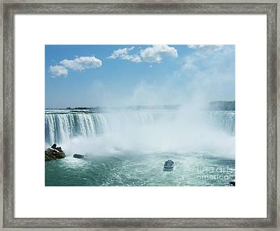 Niagara Falls In Spring Framed Print by Phil Banks