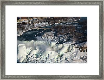Niagara Falls In Winter Framed Print by Jim West