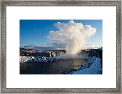 Niagara Falls Makes Its Own Weather Framed Print by Georgia Mizuleva