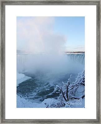 Niagara Falls -  Minus 20 C Framed Print by Phil Banks