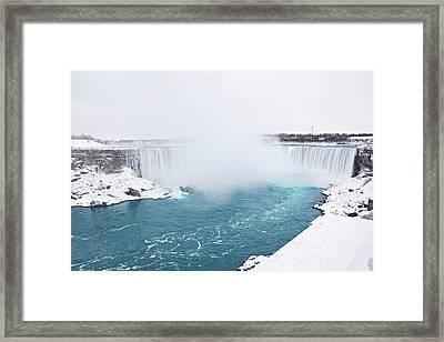 Niagara Falls Misty Winter Wonderland Framed Print