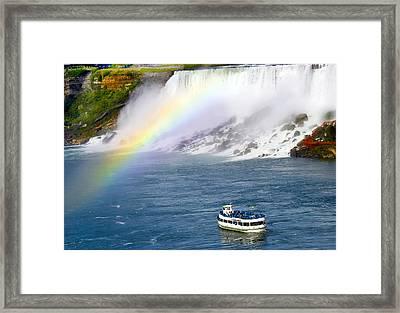 Niagara Falls Rainbow Framed Print