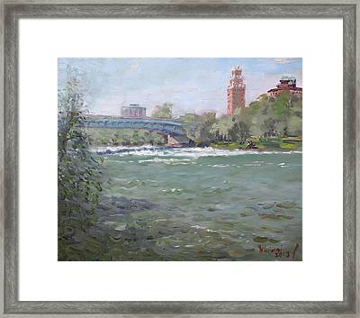 Niagara Falls River Ny Framed Print