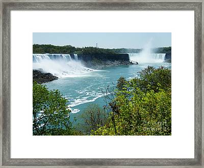 Niagara Falls - Springtime Framed Print by Phil Banks