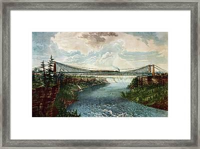 Niagara Falls Suspension Bridge Framed Print