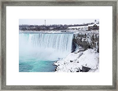 Niagara Falls Winter Framed Print