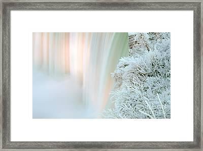 Niagara Falls Winter Twillight Framed Print by Charline Xia