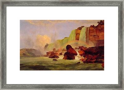 Niagara Falls With View Of Clifton House Framed Print by Jasper Francis