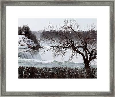 Niagara In Winter Framed Print