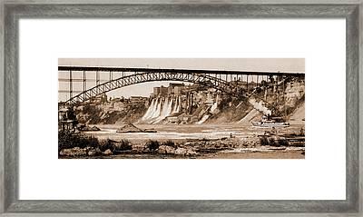 Niagara, Mills And Grand Trunk I.e Framed Print