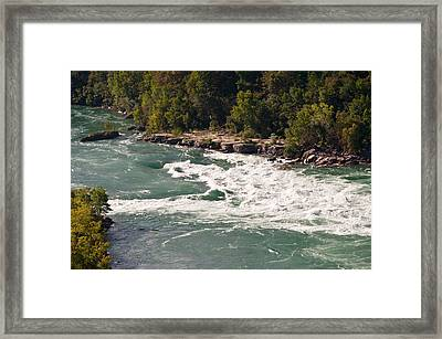 Framed Print featuring the photograph Niagara River Rapids by Marek Poplawski